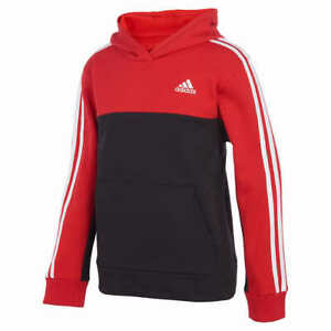 adidas Boys' Youth Pullover Fleece Hoodie - RED (Select Size: S-XL) FAST SHIP