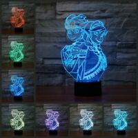 3D night light usb 3d led Frozen move 7 color optical table bedroom lamp gift