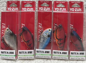 "(5) YO-ZURI Rattl'N Vibe 2.5"" 5/8oz Lipless Crankbaits Good Colors MUS"