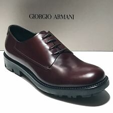 NEW Giorgio Armani ITALY Brown Leather Dress Derby Oxford 7.5 40.5 Men's Shoes