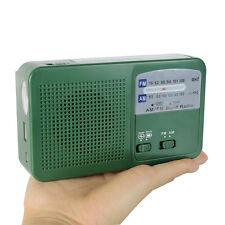 Mini  FM/AM Radio Dynamo Generator Solar/Crank Charger Radio+USB Cable+Track No.