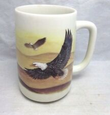 Vintage Otagiri Eagle in flight over desert mug
