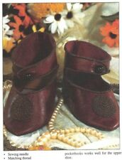 Antique Doll Bru 13 French Shoe Pattern + How To Adjust Size Free Ship 4 Usa