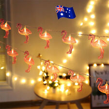 3D Tropical Pink Flamingos Party Plastic String Light Battery Operated BK