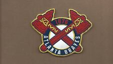 NEW 3 5/8 X 4 1/2 INCH ATLANTA BRAVES RETRO IRON ON PATCH FREE SHIPPING