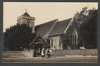 Postcard Purbrook Church nr Portsmouth Hampshire early RP by W Gunnell