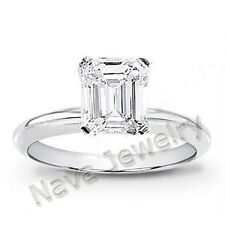 3.03 Ct. Emerald Cut Diamond Engagement Solitaire Ring