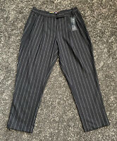 BNWT Paul Smith Black Label Womens Striped Woven Wool Trousers Size 42 UK10