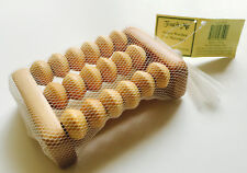2 x Wooden Foot Roller Reflexology Massager Tool For Stress Relief (2 pack)