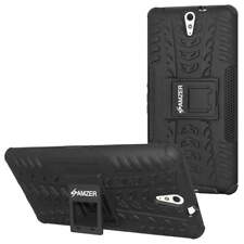 AMZER RUGGED HYBRID WARRIOR KICKSTAND CASE FOR SONY XPERIA C5 ULTRA