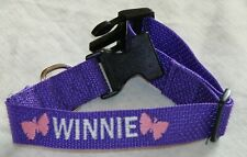 Personalized Dog Collar with Your Dogs Name Phone Number and Butterfly Design