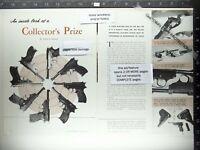 1960 Walther gun handgun pistol 4 page span feature on finding rarities ad