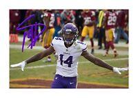Stefon Diggs (2) NFL Minnesota Vikings photograph poster. Choice of frame.