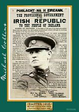 Exclusive A4 Easter 1916 Michael Collins Poster - Irish Rebel Leader