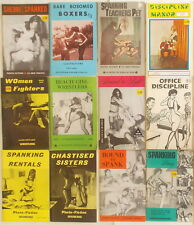 14 VINTAGE WOMEN FIGHTING & SPANKING BOOKS Photos Stories BDSM DISCIPLINE retro