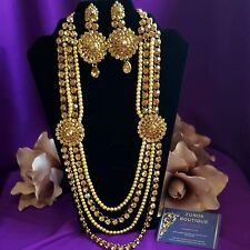 Gold Pearl Necklaces Asian Jewellery