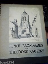 1942 PENCIL BROADSIDES by THEODORE KAUTZKY REINHOLD PUBLISHING NEW YORK  NY L@@K