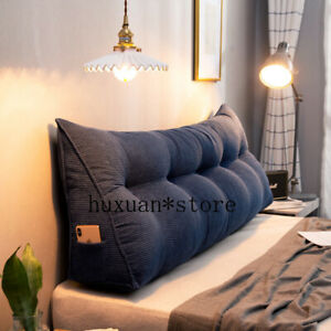Nordic Bed Head Triangle Cushion Grain Wick Velvet Pillow Bed Sofa Bed Cushion