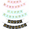 Happy Birthday Bunting Banner Party Hanging Garlands Photo Booth Decor Supplies