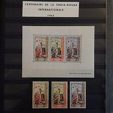 THÉMATIQUE CENTENAIRE CROIX ROUGE RED CROSS 28 TIMBRES BONNES VALEURS NEUF** MNH