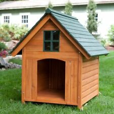 Boomer & George Extra Large Outdoor T-Bone A-Frame Wood Dog House Xl wooden