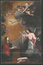 Postal antigua de la Anunciacion andachtsbild santino holy card santini