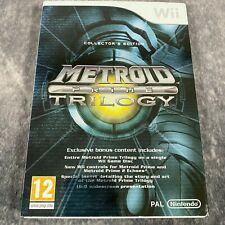 Metroid Prime Trilogy Collector's Edition Nintendo Wii PAL Game Complete Rare