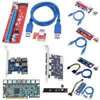 PCI-E 1x to 16x USB3.0 SR-01 VER 006C 007S 008S 009S BTC Graphic Riser Card Lot