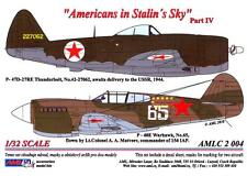 AML Models Decals 1/32 AMERICANS IN STALIN'S SKY P-47 & P-40 Part 4