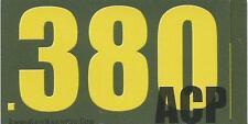 "Vinyl Ammo Can Magnet label "".380 ACP"" Bold"