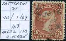 Canada #25 used VF 1868 Queen Victoria 3c red Large Queen SON CDS CV$50.00+