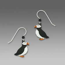 Sienna Sky Horned PUFFIN EARRINGS STERLING Silver Earwires - Gift Boxed