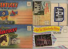 KENTUCKY lot of five souvenir folders * linen * My Old Kentucky Home * Bardstown