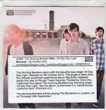(BY504) The Morning Benders, All Day Day Light - 2010 DJ CD