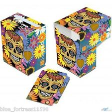 Dia De Los Muertos - Yellow Skull ULTRA PRO deck box FOR MTG POKEMON CARDS