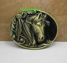 1 x mens ladies girls belt buckle quality metal alloy jeans horse cowboy saddle