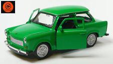 Trabi-Jubiläum 2014: 50 J. Trabant 601 Modellauto 11cm WELLY Sonderfarbe grün
