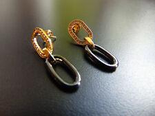 Ohrringe Ohrstecker aus vergoldet mit Zirkonia & Hämatit,von Catia Levy