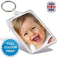 Personalised Custom Photo Gift Keyring Key Fob 70 x 45 mm   Large Size