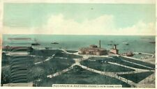 New listing Vintage Postcard Of The Aquarium & Battery Park In New York City NY Long Ago, *