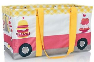 NIP New Thirty One 31 Large Utility Tote Grillin' & Chillin' Food Truck Pink