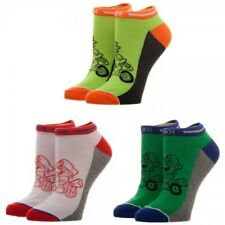 3 Pairs Nintendo Mario Kart GOOD GUYS Women's Ankle Socks Mario Yoshi Luigi NEW