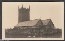 Postcard Sennen Church near Land's End Cornwall old RP by Hawke of Helston 6791