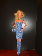"""PRETTY  BLUE DRESS  OUTFIT FOR 18"""" SUPER SIZE BARBIE DOLL"""