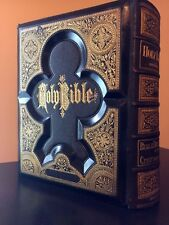 ANTIQUE HOLY FAMILY KING JAMES BIBLE w/ STATED ORIGINAL GUSTAVE DORES STEEL PLAT