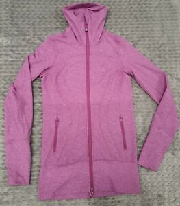 Lululemon In Stride Jacket Heather Pigmented Pink Top Size 2