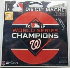 "MLB Washington Nationals 2019 World Series Champions 4"" Diameter Magnet WinCraft"