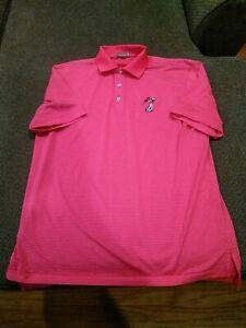 Disney Golf Shirt Peter Millar Summer Comfort Men's M Excellent Condition