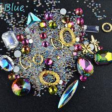 Nail Art Rhinestones Mixed 3D Tips DIY Decoration Glitter Diamonds Nail x1