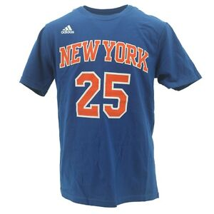 New York Knicks Youth Size Derrick Rose Official Adidas NBA T-Shirt New Tags